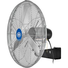 Deluxe Oscillating Wall Mount Fan 24 Inch Diameter 1/2HP 8,650CFM