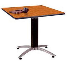 """OFM 36"""" Multi-Purpose Square Table with Metal Mesh Base, Cherry"""