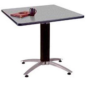 "OFM 36"" Multi-Purpose Square Table with Metal Mesh Base, Gray Nebula"