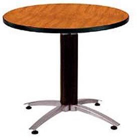 "OFM 36"" Multi-Purpose Round Table with Metal Mesh Base, Cherry"