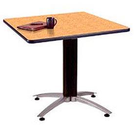 "OFM 42"" Multi-Purpose Square Table with Metal Mesh Base, Oak"