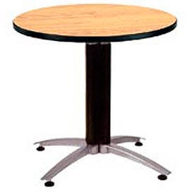 "OFM 42"" Multi-Purpose Round Table with Metal Mesh Base, Oak"