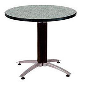 "OFM 42"" Multi-Purpose Round Table with Metal Mesh Base, Gray Nebula"