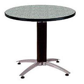 "OFM 42"" Multi-Purpose Round Table with Metal Mesh Base, Gray Nebula"