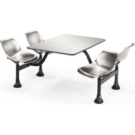 "OFM Cluster Seating Table with 24"" Stainless Steel Top and Seats"
