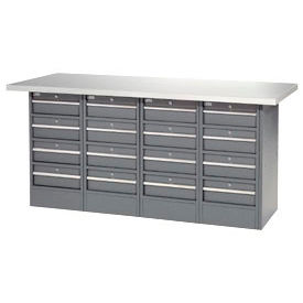 72 x 24 16 Drawers - Plastic