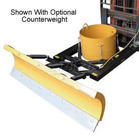 "6' Wide Fork Lift Snow Plow Blade for 5-1/2"" Wide Forklift Forks - SPB548"