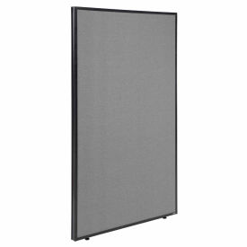 """Office Partition Panel, 48-1/4""""W x 72""""H, Gray"""