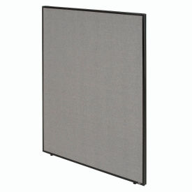 """Office Partition Panel, 60-1/4""""W x 60""""H, Gray"""