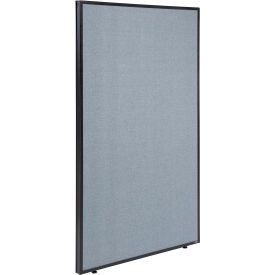 "Office Partition Panel, 36-1/4""W x 72""H, Blue"