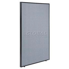 "Office Partition Panel, 48-1/4""W x 72""H, Blue"