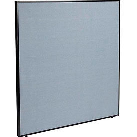 "Office Partition Panel, 60-1/4""W x 60""H, Blue"