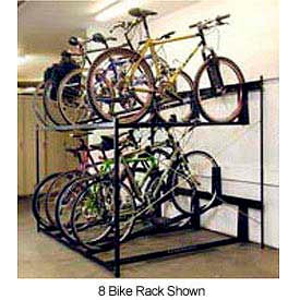 Bike Fixation Non-Lockable Two Tier 6 Bike Storage Rack