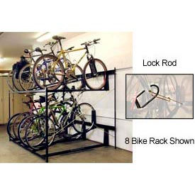 Bike Fixation Lockable Two Tier 6 Bike Storage Rack