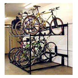 Bike Fixation Non-Lockable Two Tier 8 Bike Storage Rack