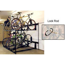 "Bike Fixation 8-Bike Rack Double Decker, Locking, 54""W X 63""D"