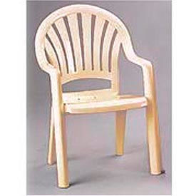 Grosfillex® Fanback Stacking Outdoor Armchair - Sand (Sold in Pk. Qty 16) - Pkg Qty 16