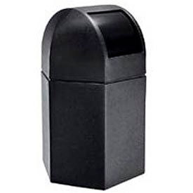 Waste Container with Dome Lid, 45 Gallon Black - 73790199