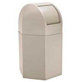 Waste Container with Dome Lid, 45 Gallon Beige - 73790299