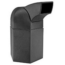 Waste Container with Drive-Through Lid, 45 Gallon Black - 73800199