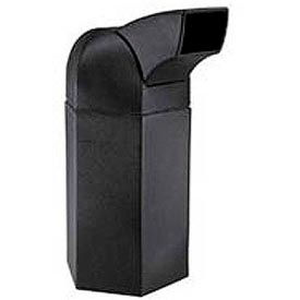 Waste Container with Drive-Through Lid - 50 Gallon Black
