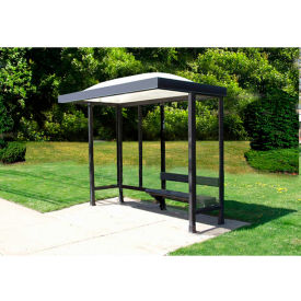 """Smoking Shelter Dome Roof Three Sided With Open Front 10' X 2'8"""""""