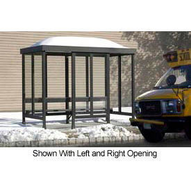 Smoking Shelter Dome Roof Four Sided With Left Front Opening 10' X 10'