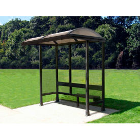 """Smoking Shelter Barrel Roof Three Sided With Open Front 7'6"""" X 2'8"""""""
