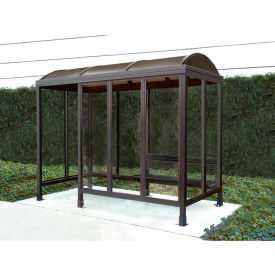 Smoking Shelter Barrel Roof Four Sided With Left Front Opening 10' X 5'