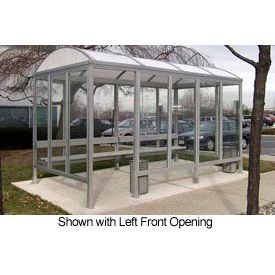 Smoking Shelter Barrel Roof Four Sided With Left And Right Front Opening 15'X5' by