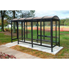 Smoking Shelter Barrel Roof Four Sided With Left  Front Opening 15' X 5'