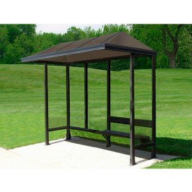 """Smoking Shelter Vented Poly-Hip Roof Three Sided With Open Front 10' X 2'8"""""""