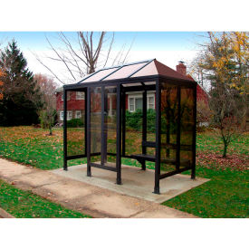 Smoking Shelter Vented Poly-Hip Roof 4 Side W/ Left & Right Front Opening 10'X5'