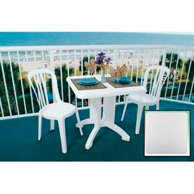 "Grosfillex® Vega 32"" Square Outdoor Folding Tables White (Bulk Rate) - Pkg Qty 12"