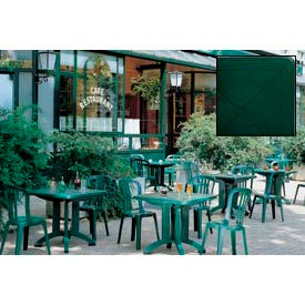 """Grosfillex® 32"""" Square Outdoor Folding Tables Green (Sold in Pk. Qty 12) - Pkg Qty 12"""