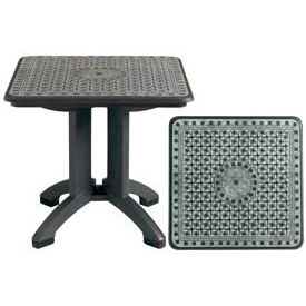"""Grosfillex® Toledo 32"""" Square Outdoor Folding Table - Chain Link Design - Pkg Qty 2"""