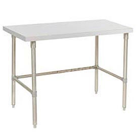 72 X 30 Plastic Laminate Square Edge Workbench with Stainless Steel Legs