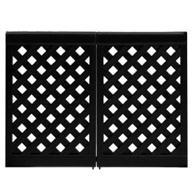 Grosfillex Portable Resin Outdoor Patio Fence, 2-Panel Section - Black