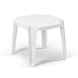 Grosfillex® Stacking Outdoor End Table - White (Sold in Pk. Qty 6) - Pkg Qty 6