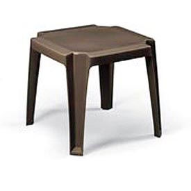 Grosfillex® Stacking Outdoor End Table - Bronze (Sold in Pk. Qty 30) - Pkg Qty 30