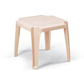 Grosfillex® Stacking Outdoor End Table - Sand (Sold in Pk. Qty 6) - Pkg Qty 6
