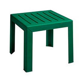 Grosfillex® Outdoor End Table With Wood Slat Pattern - Green