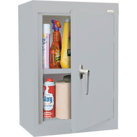 Sandusky Wall Cabinet WA11181226 Single Door - 18x12x26, Light Gray