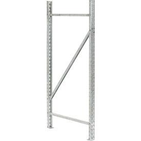"Interlake - Pallet Rack Frame 48""D x 120""H, 19,300 lbs Cap. - Galvanized"
