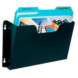 Steel Wall File Pockets Letter Size - Black