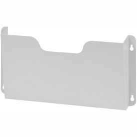 Steel Wall File Pockets Letter Size - Platinum