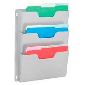 Steel Triple Wall File Pockets Letter Size - Platinum
