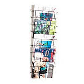 Wire Wall Magazine Rack Legal Size Black 5 Pockets