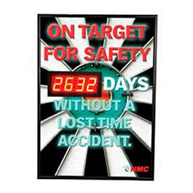 Digital Safety Scoreboard Sign - On Target for Safety...