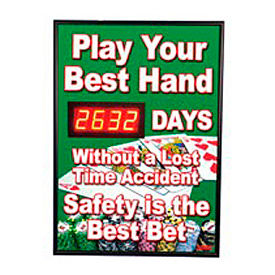 Digital Safety Scoreboard Sign - Play Your Best Hand...